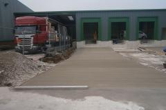 Brushed finish concrete